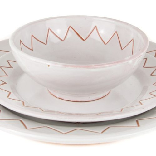 Platos de cerámica blancos