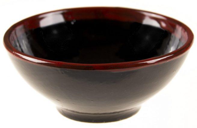 Set de platos de cerámica negros