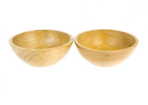 Cuencos de madera de Iroko
