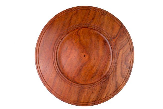Bajoplatos de madera de Iroko