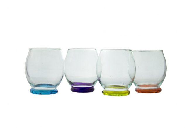 Set 4 Vasos tradicional de color