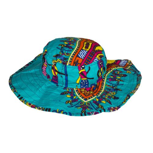 Sombrero de estampado africano