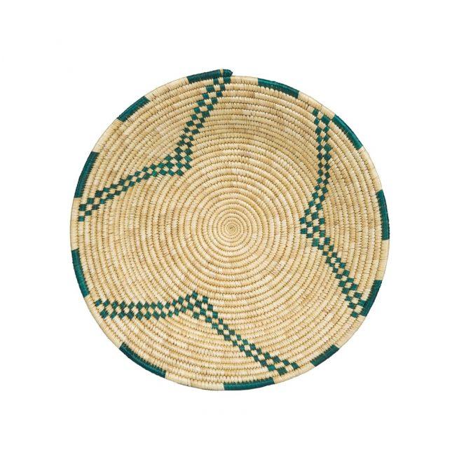 Plato bicolor de fibra vegetal