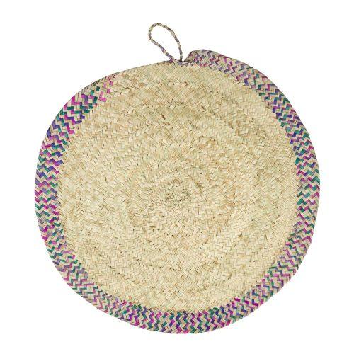 Tapete circular de fibra vegetal