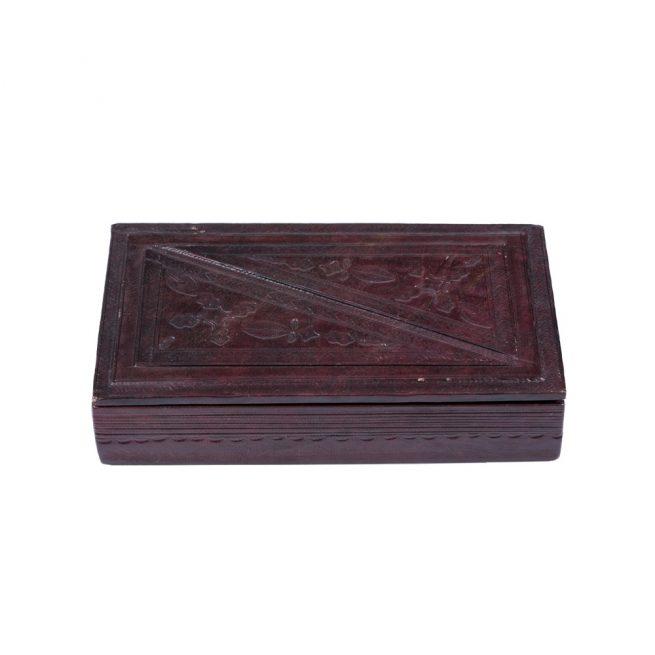 Caja de cuero