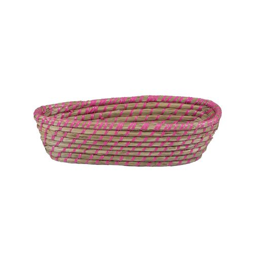 Cesta ovalada de fibra vegetal