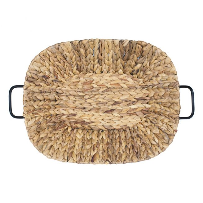 Bandeja ovalada en fibra de maíz