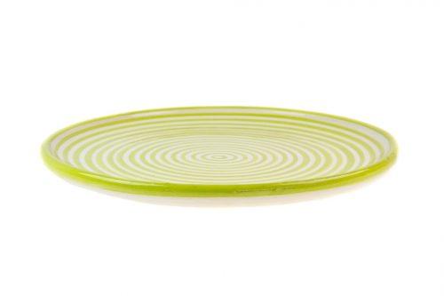 Fuente cerámica rayas verde