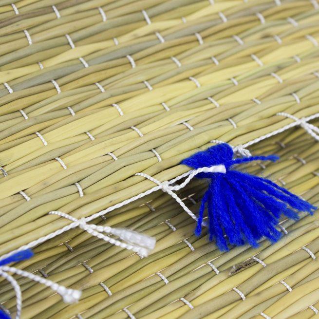 Set de 2 manteles individuales pompones azul