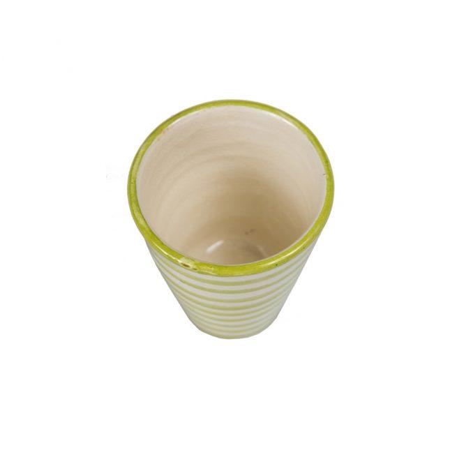 Vaso de cerámica rayas verde