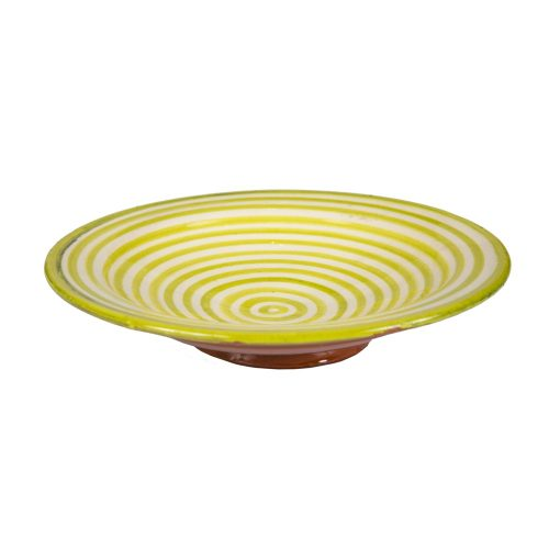 Plato de cerámica rayas verde