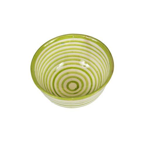 Cuenco de cerámica rayas verde
