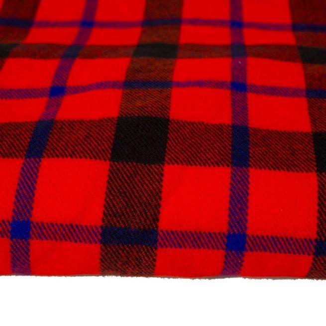 Manta Masai en lana y algodón