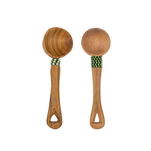 Set de 2 cucharillas de servicio en madera de bubinga