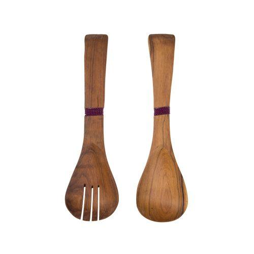Cubiertos de servir en madera de bubinga
