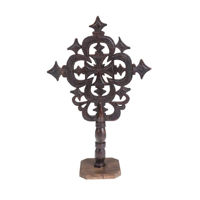 Cruz Etíope de madera