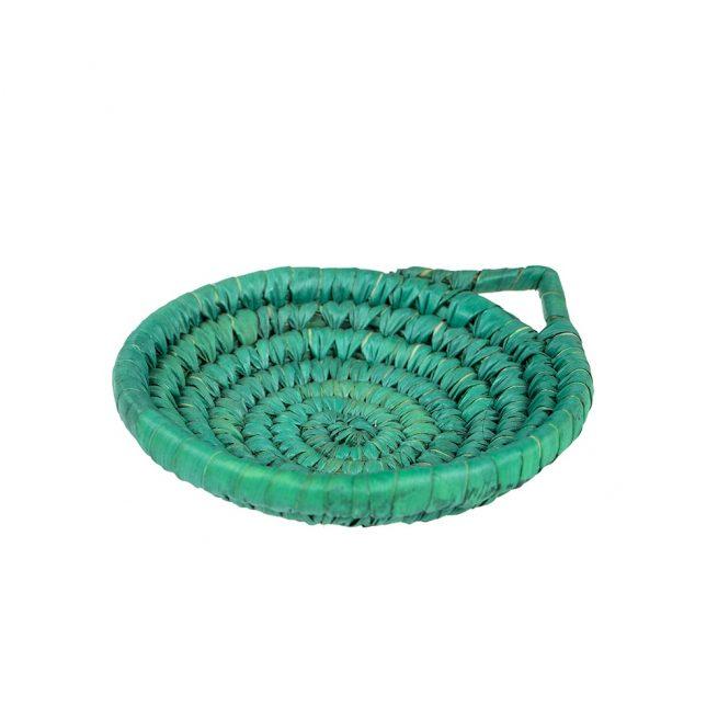 Panera en fibra de color verde