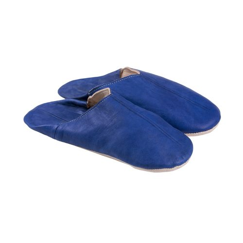 Babuchas de hombre azul