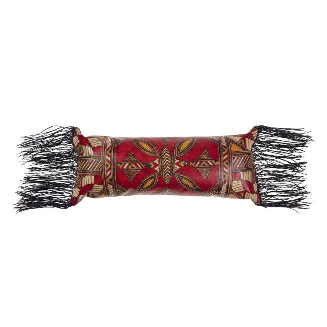 Cojín tuareg de cuero con relleno