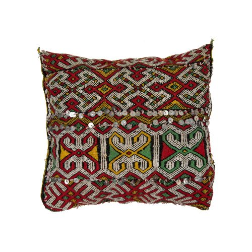 Cojin de kilim bereber con relleno (45x40)