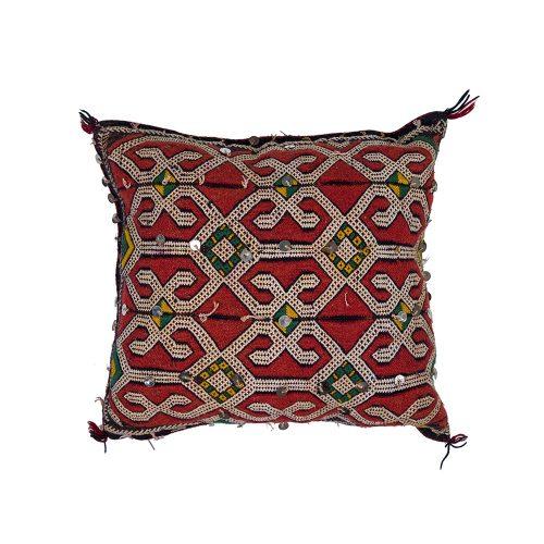 Cojin de kilim bereber con relleno (47x33)