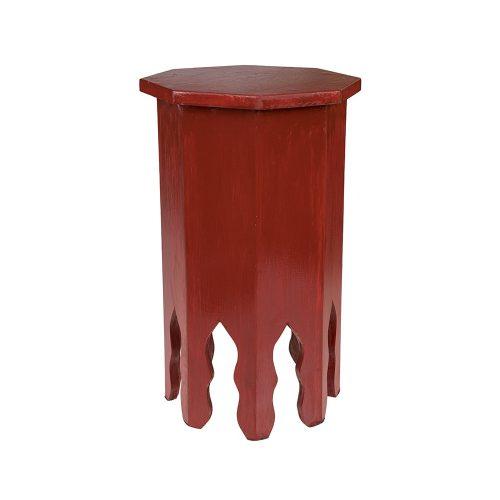 Mesa octogonal monocolor roja mediana