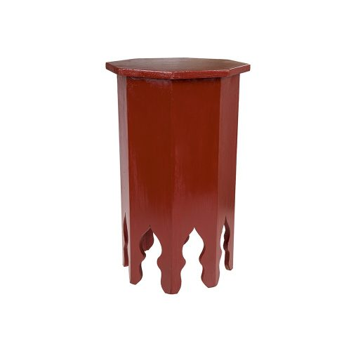 Mesa octogonal monocolor roja pequeña