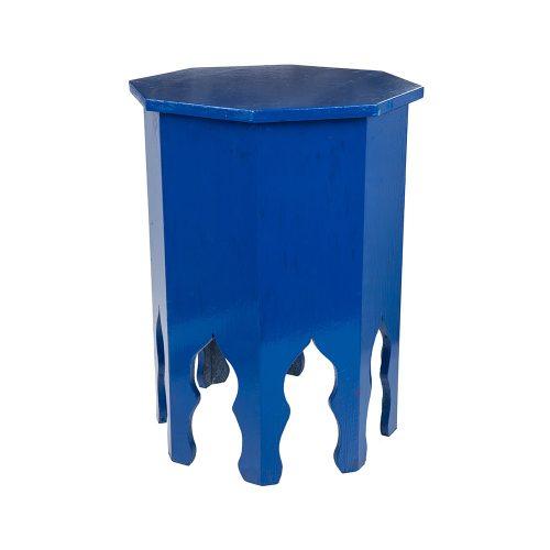 Mesa octogonal monocolor azul grande