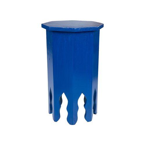Mesa octogonal monocolor azul mediana