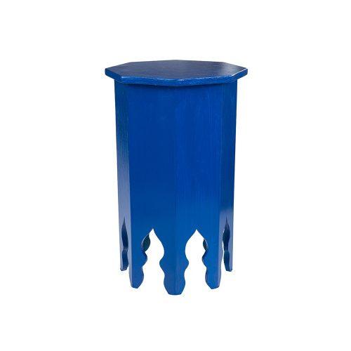 Mesa octogonal monocolor azul pequeña