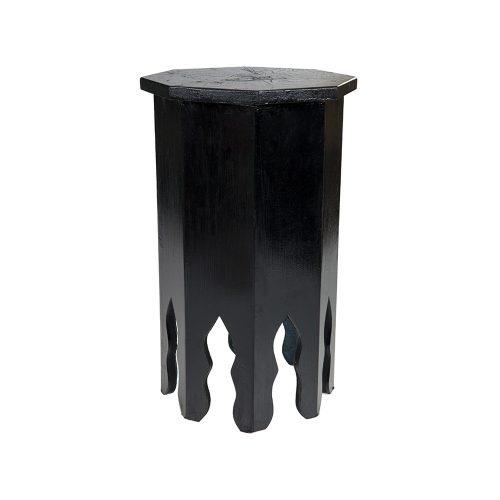 Mesa octogonal monocolor negra mediana