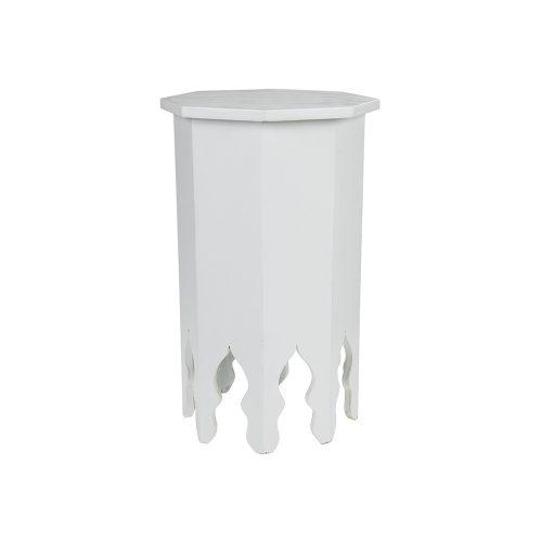Mesa octogonal monocolor blanco pequeña