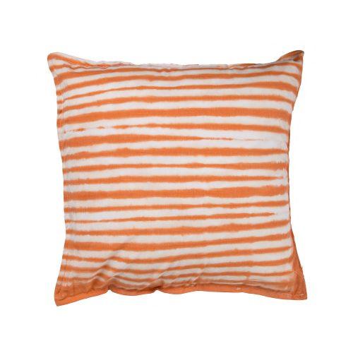 Cojín Brakina blanco y naranja 45x45