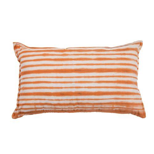 Cojín Brakina blanco y naranja 30x50