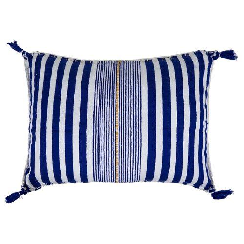 Cojín de fouta azul y blanco 40x55