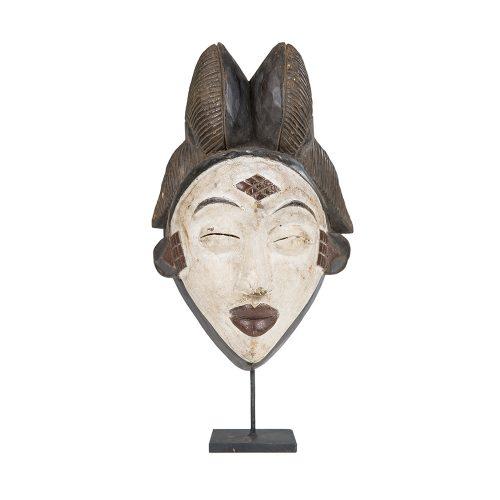 Máscara africana con peana